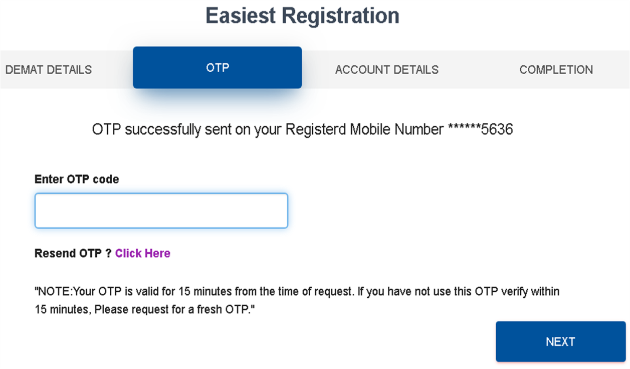 Easiest Registration  Step 2