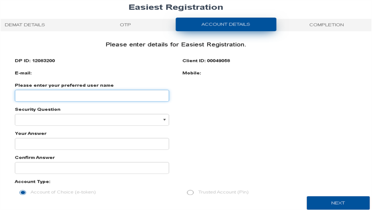 Easiest Registration  Step 3