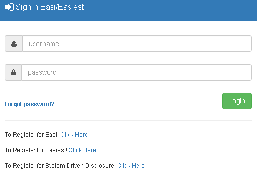 Login To Easi/Easiest